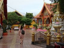 Detalhes de belas artes no templo budista imagem de stock