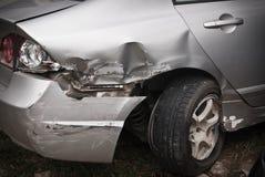 Detalhes de cabeça do carro em um acidente Fotografia de Stock Royalty Free