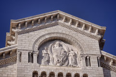 Detalhes de catedral em Monaco Foto de Stock
