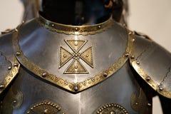 Detalhes de cavaleiro Armor imagens de stock