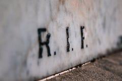 Detalhes de cemitério em Nova Zelândia foto de stock