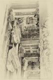 Detalhes de cinzeladura intrincada e de decoração Fotografia de Stock