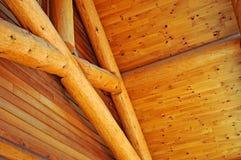 Detalhes de construção civil do log Imagem de Stock