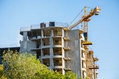 Detalhes de construção inacabado no canteiro de obras Foto de Stock Royalty Free