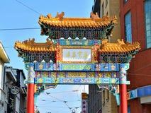 Detalhes de entrada no bairro chinês em Antuérpia imagem de stock
