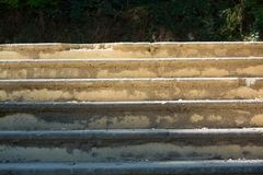 Detalhes de escada velha da cidade em Provence imagem de stock royalty free
