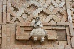 Detalhes de estilo maia da arquitetura de Puuc - Uxmal, México foto de stock