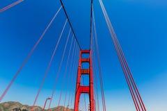 Detalhes de golden gate bridge em San Francisco California fotografia de stock