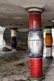 Detalhes de Hundertwasserhaus Wien Foto de Stock
