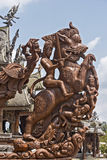 Detalhes de madeira no santuário da verdade Foto de Stock Royalty Free
