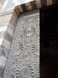 Detalhes de madeira velhos da porta Imagens de Stock Royalty Free
