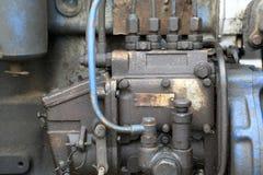 Detalhes de motor de diesel Fotografia de Stock Royalty Free