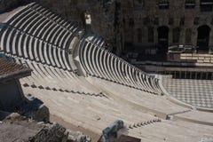 Detalhes de Odeon antigo do Atticus de Herodes em Atenas, Grécia no monte da acrópole Imagem de Stock