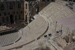 Detalhes de Odeon antigo do Atticus de Herodes em Atenas, Grécia no monte da acrópole Fotografia de Stock Royalty Free