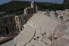Detalhes de Odeon antigo do Atticus de Herodes em Atenas, Grécia no monte da acrópole Imagem de Stock Royalty Free