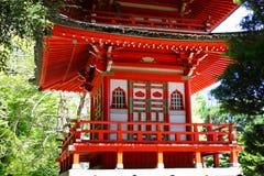 Detalhes de pagode no jardim de chá japonês, Golden Gate Park, San Francisco fotografia de stock