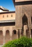 Detalhes de palácio de Alhambra em Granada, a Andaluzia, Imagem de Stock Royalty Free