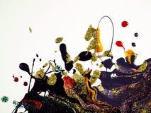 Detalhes de pintura modernos acr?licos com contraste vibrante ilustração do vetor
