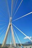 Detalhes de ponte de Charilaos Trikoupis imagens de stock