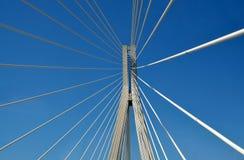 Detalhes de ponte de Charilaos Trikoupis fotos de stock royalty free