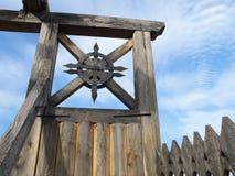 Detalhes de porta do castelo de Zolochiv imagens de stock