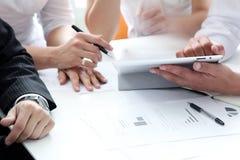 Detalhes de processo de trabalho na reunião de negócio Fotografia de Stock