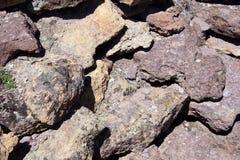 Detalhes de rochas vulcânicas do rhyolite do tufo fotografia de stock royalty free