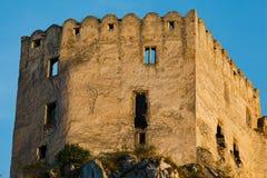 Detalhes de ruínas do castelo de Beckov imagens de stock royalty free
