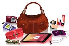 Detalhes de saco moderno para a fêmea Imagens de Stock