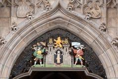 Detalhes de salão de cidade de Munich imagens de stock royalty free