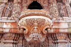 Detalhes de santuário do templo da verdade, Pattaya, Tailândia Foto de Stock