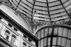 Detalhes de surpresa da galeria Umberto I em Nápoles fotografia de stock royalty free
