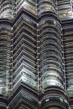 Detalhes de torre gêmea de Petronas, Kuala Lumpur, Malásia Imagem de Stock