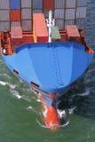 Detalhes de um navio de recipiente fotos de stock royalty free