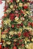 Detalhes de uma árvore de Natal com Sparkles e energias foto de stock