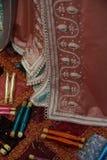 Detalhes de uma cafetã marroquina Foto de Stock Royalty Free
