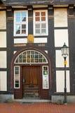 Detalhes de uma casa no centro de Hameln, em Alemanha imagens de stock royalty free