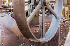 Detalhes de uma locomotiva de vapor Fotografia de Stock