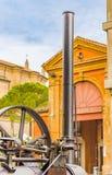 Detalhes de uma locomotiva de vapor Imagem de Stock