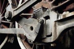 Detalhes de uma roda retro do trem fotografia de stock
