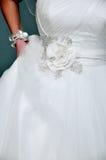 Detalhes de vestido de casamento Imagem de Stock