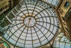 Detalhes de vidro do close up de Milão da abóbada Imagem de Stock Royalty Free