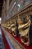 Detalhes de Wat Phra Kaew, templo de Emerald Buddha, Banguecoque Fotografia de Stock Royalty Free