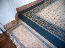 Detalhes do assoalho de telha feito à mão em Evita Fine Arts Museum imagem de stock royalty free