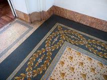 Detalhes do assoalho de telha feito à mão em Evita Fine Arts Museum fotografia de stock royalty free