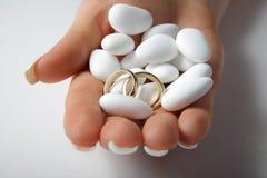 Detalhes do casamento Fotografia de Stock Royalty Free