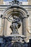 Detalhes do close-up na fachada da igreja de nossa senhora do auxílio Notre-Dame de Bon Secours, Bruxelas, Bélgica Fotos de Stock