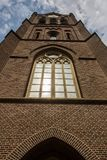 Detalhes do close-up na fachada da igreja, uma igreja Católica construída em estilo arquitetónico barroco e Flamengo-italiano mis Fotos de Stock Royalty Free
