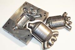 Detalhes do cnc do metal. Indústria de trituração. Imagem de Stock