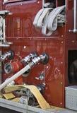 Detalhes do Firetruck fotografia de stock
